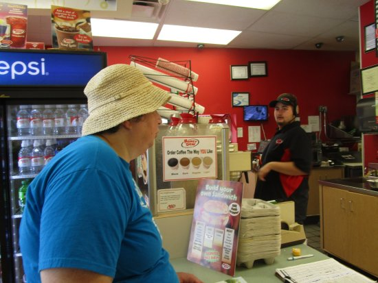 Seekonk, MA: That is me placing an order at Honey Dew Donuts.