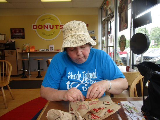 Seekonk, MA: That is me eating my muffin.