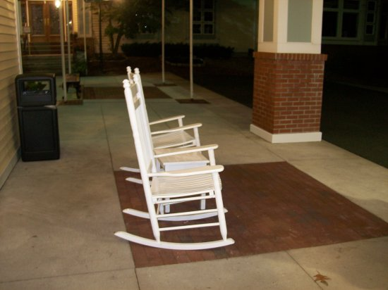 Outside Rocking Chair Seating.   Picture Of D. Hotel Suites And Spa,  Holyoke   TripAdvisor