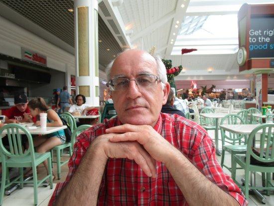 Warwick, RI: Louis sitting at the Food Court.