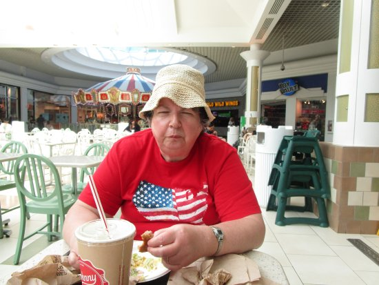 Warwick, RI: That is me eating my hamburger.