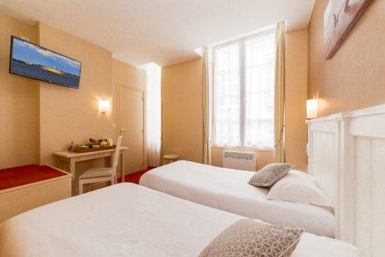 Hotel Le Nautilus: Chambre twin 2 lits largeurs 90cm