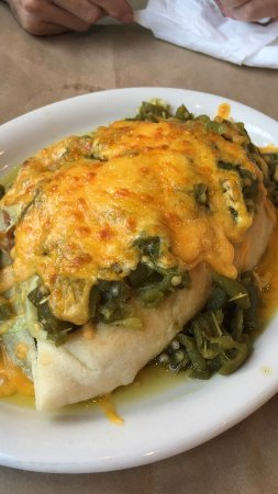 Espanola, NM: Look at this picture, it tasted even better than it looked! Stuffed chicken green chile sopapill