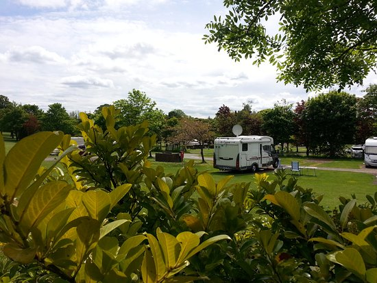 Mortonhall Caravan and Camping Park: A variety of pitches to suit tents, campervans, tourers, motorhomes  and RV's