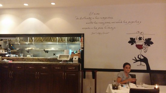 Kitchen view with wall writing picture of kebo restaurant key kebo restaurant kitchen view with wall writing workwithnaturefo
