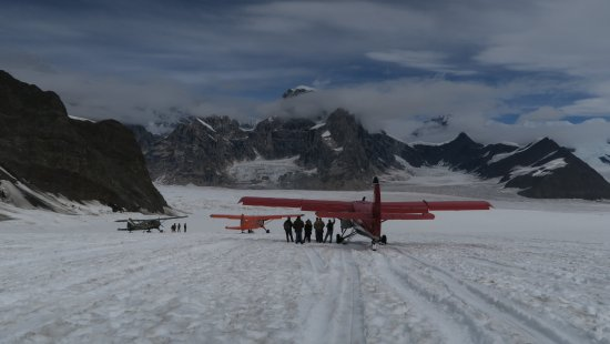 Talkeetna Air Taxi: Our landing site on the Ruth Glacier