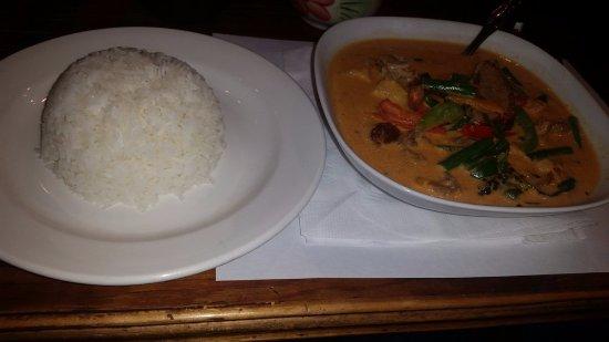 Morton Grove, IL: Duck Thai Curry and Thai Jasmine Rice