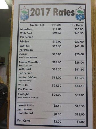 Lakewood, WI: 2017 Price List