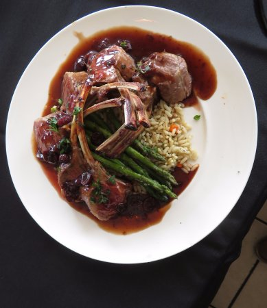 Solomons, MD: The Rack of Lamb With A Cherry Glaze