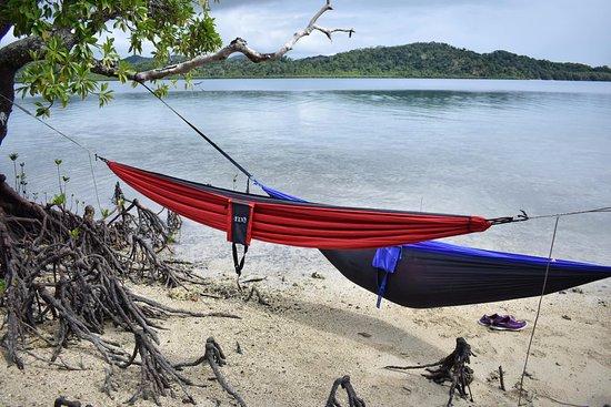 Vanua Levu, Fiji: Our hammock set up during a Castaway Day.