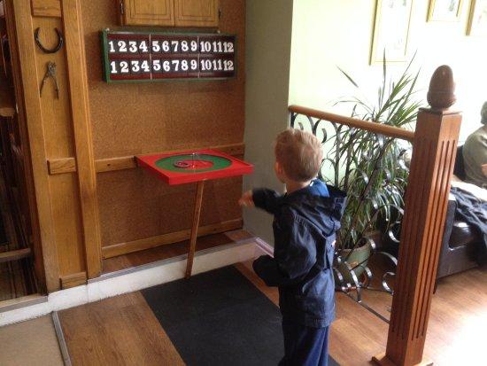 Parkend, UK: Joshua playing quoits