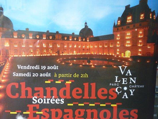 Valencay, Frankrijk: La fameuse soirée aux chandelles