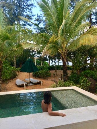 Sofitel So Mauritius : Enjoying the private pool.