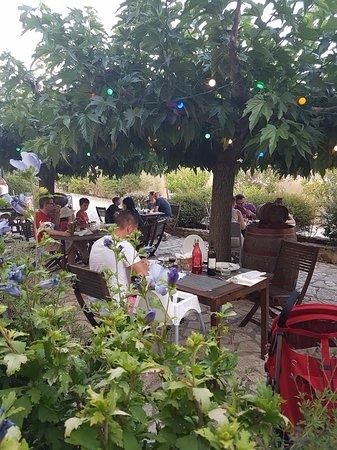 Leuc, France: La terrasse