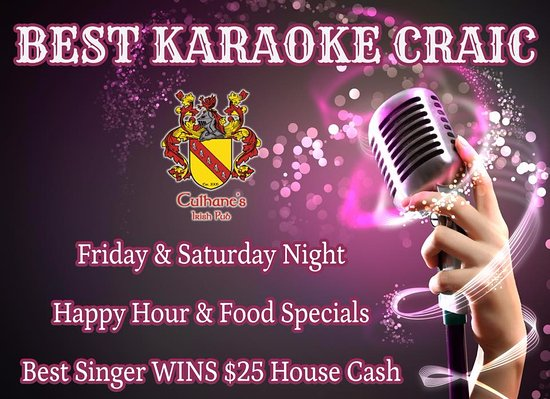 Atlantic Beach, FL: Best Karaoke and Happy Hour at Culhane's Irish Pub!