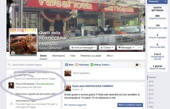 """Vezzano Ligure, Italy: 500 """"mi piace"""" di Facebook"""