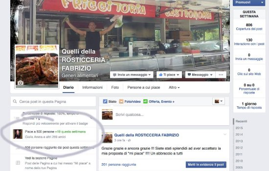 "Vezzano Ligure, Itália: 500 ""mi piace"" di Facebook"