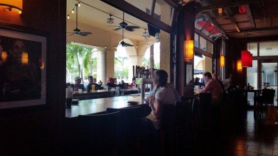 Bar Louie: Inside sitting at outside bar