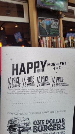 Bar Louie: Happy Hour specials