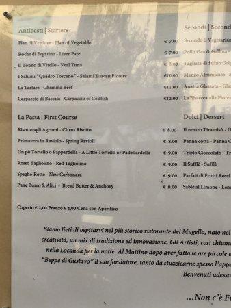 Borgo San Lorenzo, Italy: Menù 1