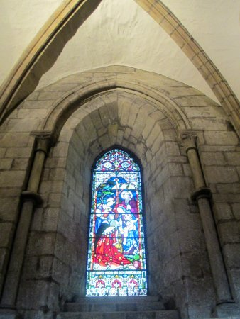 Hexham, UK: stained glass window