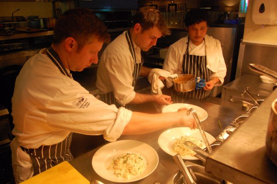Cowbridge, UK: Some of our chefs at work