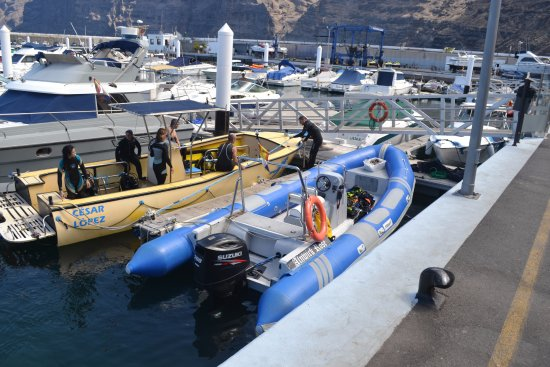 Los Gigantes, Spanien: The blue boat is theirs