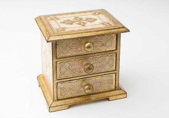 Dipingere Portagioie Di Legno : Portagioie in legno con foglia oro dipinto a mano da