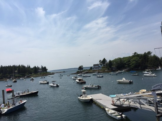 Southport, ME: Wonderful view from upstairs.