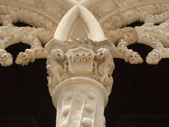 date in column on side veranda - Picture of Bussaco Palace