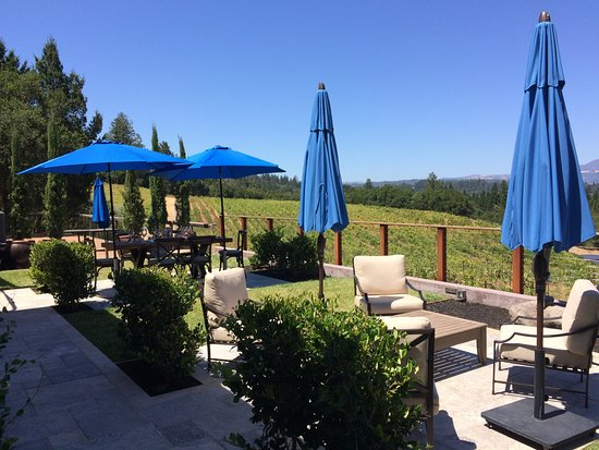 Healdsburg, CA: Terrace with a beautiful view.