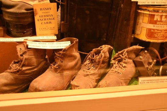 The Channel Islands Military Museum: MODERN DAY SHOES