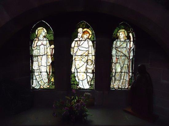 Betws-y-Coed, UK : glas in lood raam