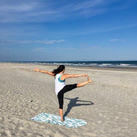 Yoga teacher Jenny Stevens on Folly Beach