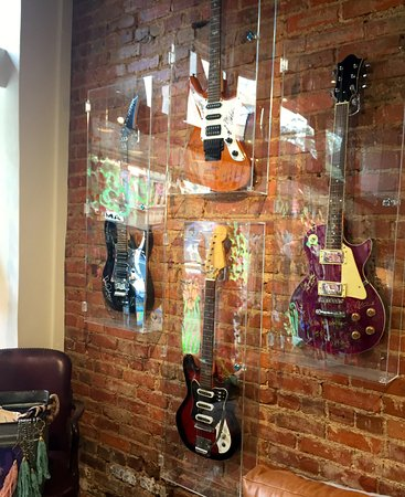 Athens, GA: Cool guitar collection on the wall