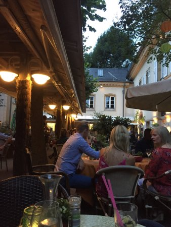 Bosso: Outdoor patio at dusk