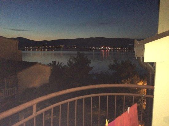 Arbanija, โครเอเชีย: Sea view @ night, when totally dark the light reflection on the sea is amazing!