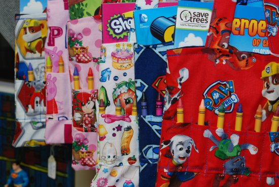 Townsend, TN: Fun and functional crayon bags. Great travel companions for your little one.