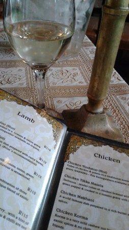 Bloubergstrand, Sudáfrica: Sample menu
