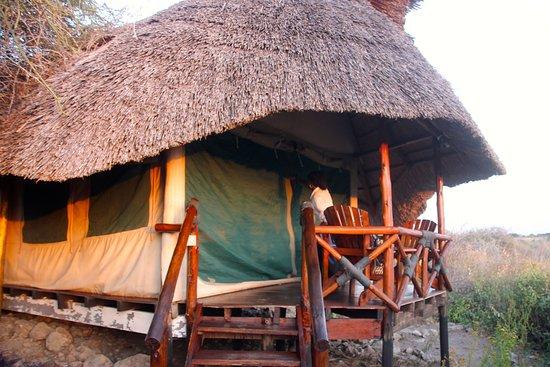 Lake Manyara National Park, Tanzania: Porch of tented room