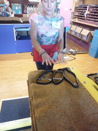 Shelburne, VT: Cutters for the bear fabric