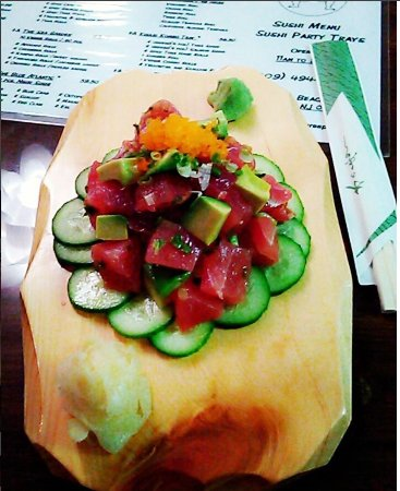 Surf City, NJ: Ponzu Tuna Poke with Avocado and Mini Cucumbers
