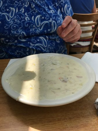 Bowl of New England Clam Chowder (yes, it is that big! but oh so good!)