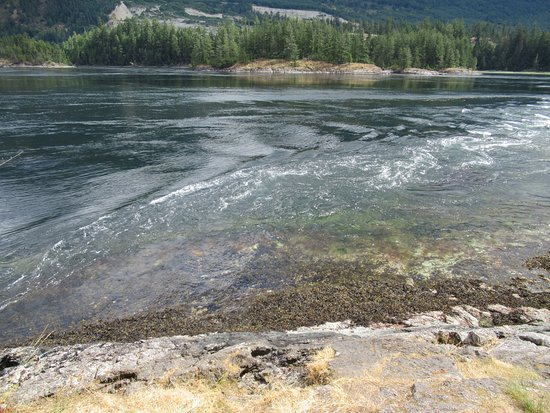 Egmont, Canada: The whirlpools at Medium Tide