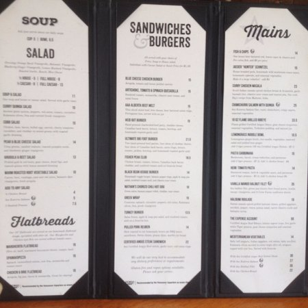 Cranbrook, Καναδάς: The Lunch Menu