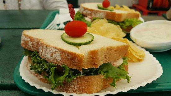Trenton, Maine: lobster sandwich