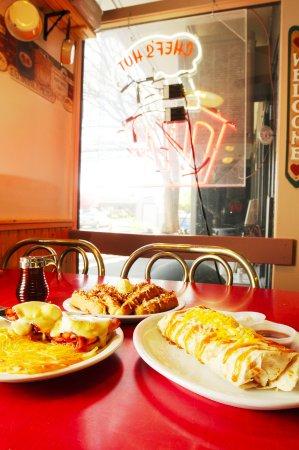 The Chef's Hut: Eggs Benedict, Coconut French Toast, Burrito