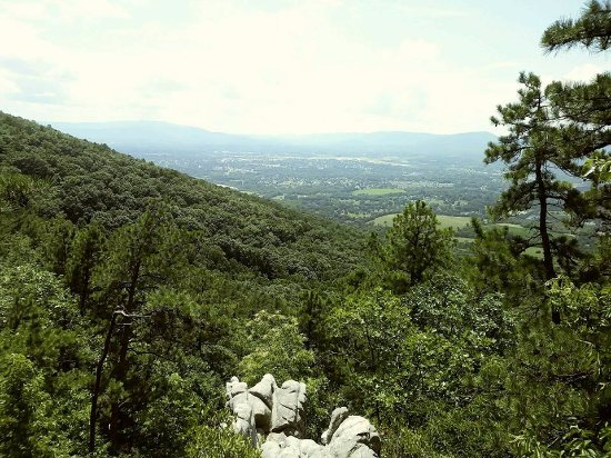 Roanoke, VA: a view from the top of buzzards rock