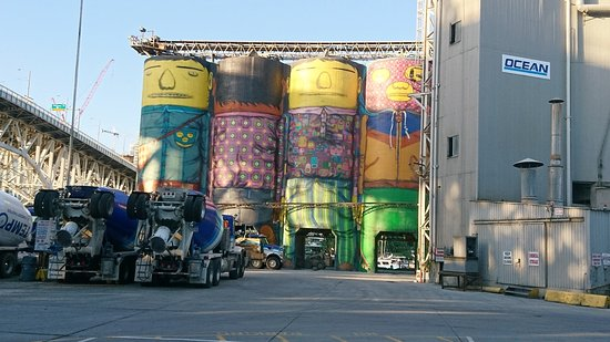 Granville Island: Painted Silos