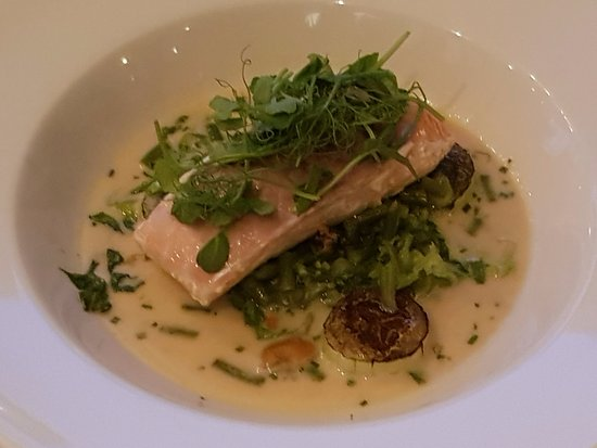 Babylon : A salmon main although you may need some side dishes